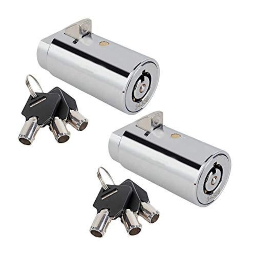 2 Kits Cerradura de Máquina Expendedora de Aleación de Zinc con Llaves para Gabinete, Vehículo de Motor y Máquina Expendedora