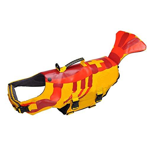 Chaleco Salvavidas para Perros, Chaleco Salvavidas De Flotación para Mascotas, Traje De Baño Salvavidas Ajustable para Perros con Asa para Nadar, Pasear En Bote, Cazar (M),L