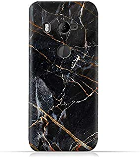 AMC Design Grey Marble texture Design Silicone Protective Case For HTC U11 Eyes - Black