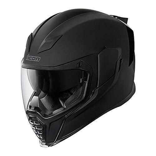 Icon Helm Airflite Rubatone schwarz matt Motorradhelm Integralhelm, M