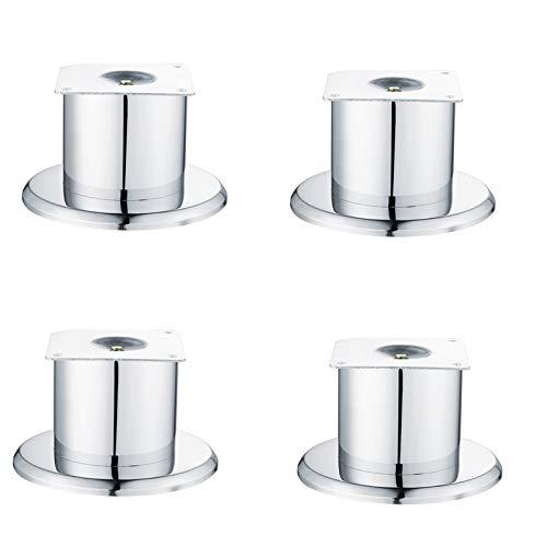 Aleación de Aluminio Patas para Mueble, Sofá Mueble de TV Mesa de Centro Pies Cuadrados Pies de Soporte, para encimeras, mesas, desayunadores, escritorios(Silver79.5mm/3.1in)