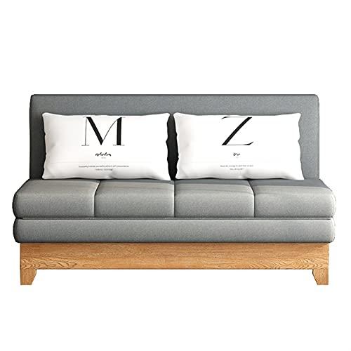 HMBB Sofá Cama Moderno 3 plazas de sofá CLACK Sofa Settee Recliner Sofá con Patas de Madera for Sala de Estar/habitación/Oficina, Gris (Size : 1.75m/68.9in)