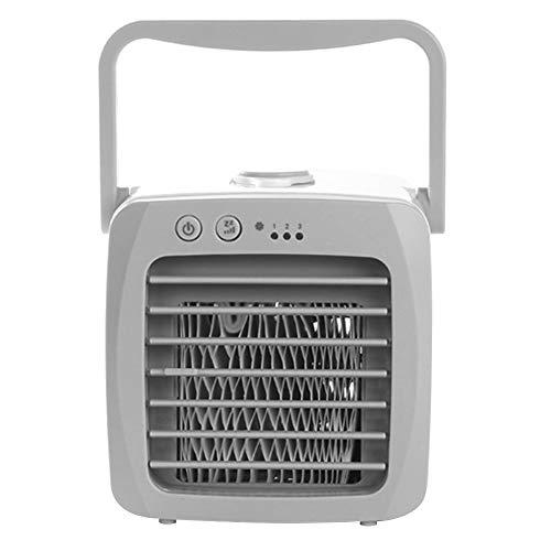 Demiawaking Mini Condizionatore Portatile ad Acqua Condizionatore da Tavolo USB Raffreddatore Climatizzatore Portatile 3 Velocità Basso Rumore Umidificatore Purificatore per Casa Ufficio Dormitorio