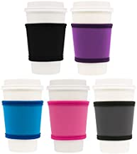 MOXIE Cup Sleeves – Premium Insulated Reusable Cup Sleeve for Coffee, Tea & Cold Drinks – One size fits all (5pk - Colors)