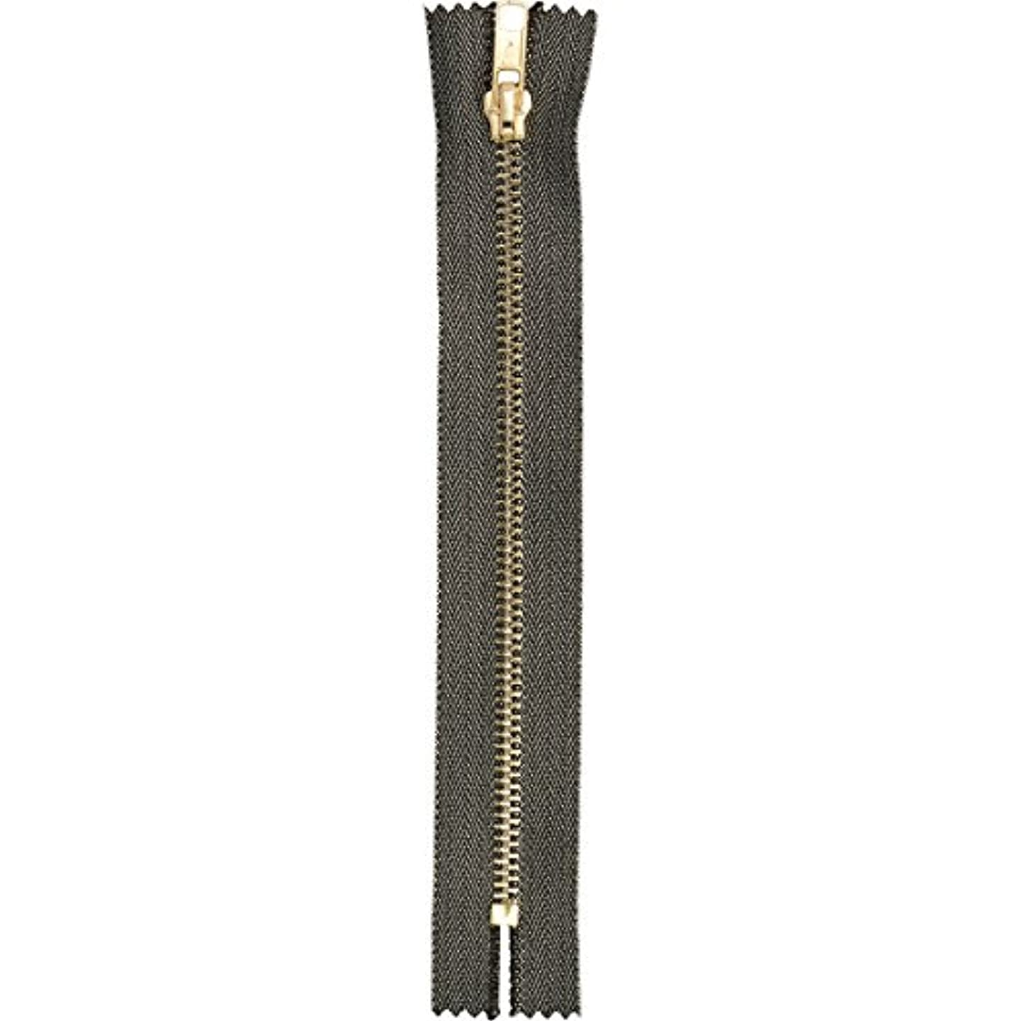 Products From Abroad Zipper Metallic 30cm Black,