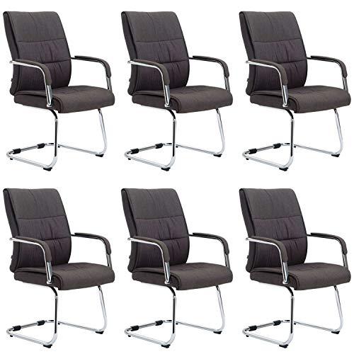Sievert - Silla de oficina (6 unidades), color gris oscuro