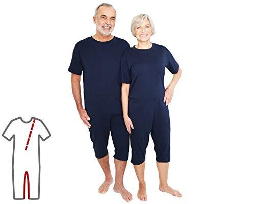 Pflegeoverall für Männer und Frauen; relax kurz mit Bein- und Rückenreißverschluss; Demenz Overall; ActivePro (XL)