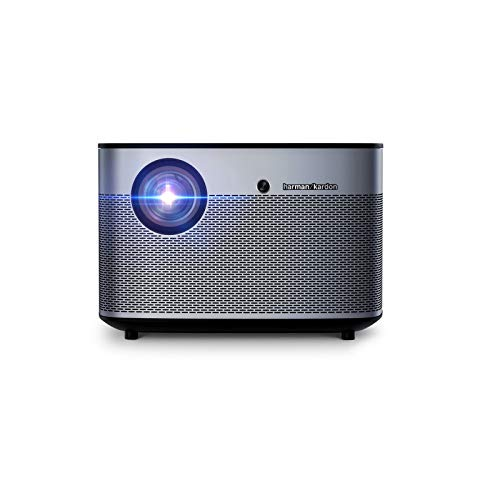 CuteLife Proyector Proyector de Inicio 1350 LUMENS 1080P LED DLP Video 3D WiFi Bluetooth Smart Theatre para Cine en Casa (Color : Black, Size : 201x201x135mm)