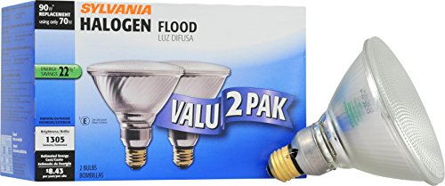 SYLVANIA Home Lighting 16744 Halogen Bulb, 90W Equivalent, Reflector Lamp, Pack of 2
