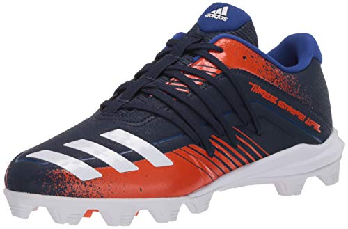 adidas Boys' Afterburner 6 Md K Baseball Cleat, Navy/FTWR White/Collegiate Royal, 4.5 M US Little Kid