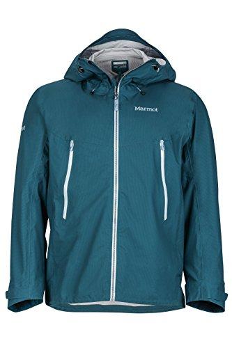 Marmot Men's Red Star Waterproof Rain Jacket, Medium, Deep Teal
