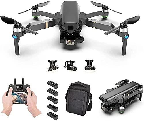 rzoizwko Drone, GPS Drone con cámara 8K para Adultos, 1080P HD Video 3-Axis Gimbal Auto Return Home Sígueme Quadcopter RC Plegable con baterías y Estuche de Transporte