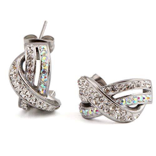 EGGofry Oorbellen voor dames, Europese en Amerikaanse mode, oornagels en titanium staal, accessoire van derden