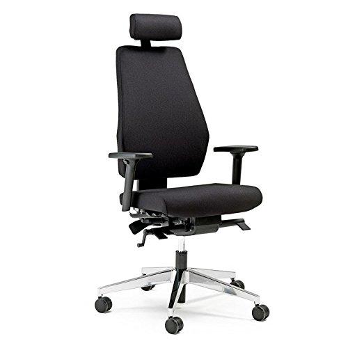 AJ Producter AB 14450 Bureaustoel, hoge rugleuning, hoofdsteun en armleuningen, zwart