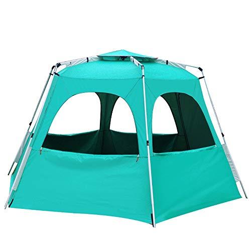 Zelten Family Camp Zelt Freien Outdoor-Full-Auto-Zelt einlagig Strand-Zelt Camping Zelt kann 5-8 Personen Leichtes Camping Beherbergungs (Color : As Shown, Size : One Size)