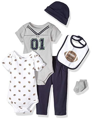 Little Treasure Unisex Baby Layette 6-Piece Set, Football Jersey, 6-9 Months
