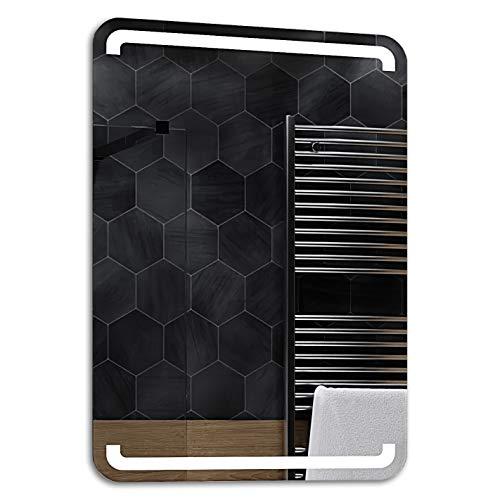 ALASTA® Miroir   Moderne Miroir de Salle de Bain   90x200cm   Mediolan   Nouvelle Génération Miroir avec Accessoires   Blanc Froid/Chaud en Option