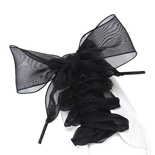 Black Temptation Chaussures à Lacets pour Chaussures à Talons et Lacets décontractés Ruban Multifonctions#Nior