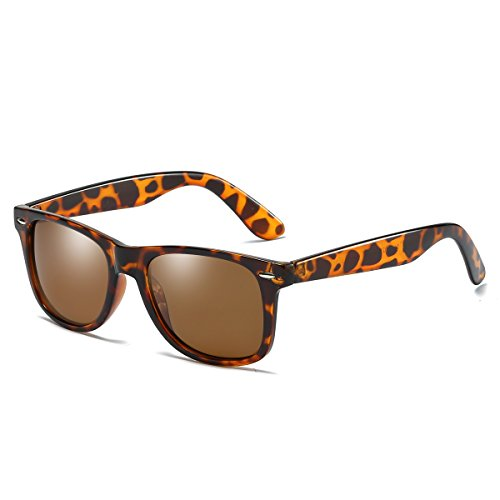 Rocf Rossini Gafas de Sol para Hombres Polarizadas Vintage Gafas Mujer Conducción Retro CAT.3 Protección UV400 (Tortuga/Marrón)