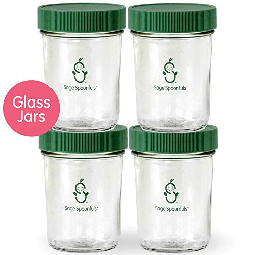 Check Out This Glass Food and Beverage Storage Containers | 2 Glass 8oz Food Jars with Lids | 30 Lab...