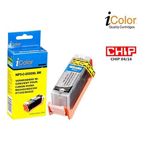 iColor Pixma Mx 725, Canon: Patrone für Canon (ersetzt PGI-550BK XL), Black mit CHIP (Alternative Druckerpatronen Canon)