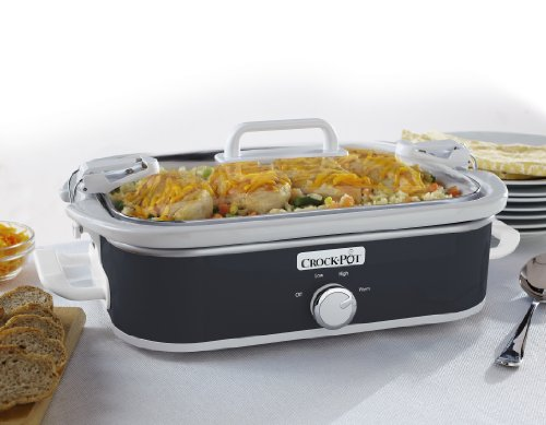 Crock-Pot 3.5-Quart Casserole Crock Manual Slow Cooker, Charcoal