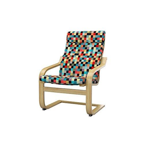 Soferia - IKEA POÄNG Funda para sillón, Mozaik Red