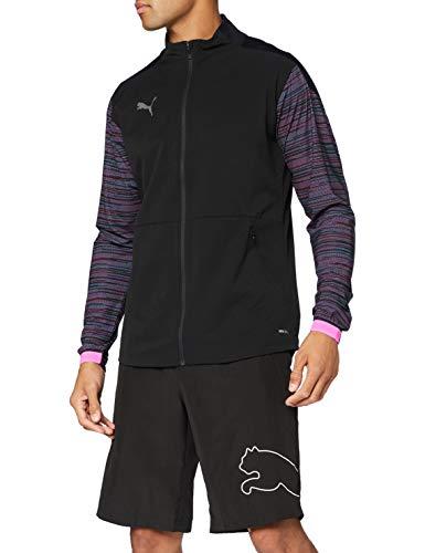 PUMA Ftblnxt Pro Jacket Sudadera, Hombre, Black/Luminous Pink, XL