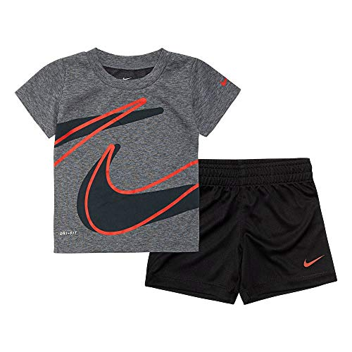Nike Boys' 2-Piece Shorts Set Outfit - Black, 4