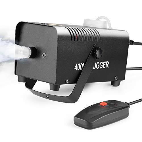 """Nebelmaschine, AGPtEK Nebel Maschine mit verkabelter Fernbedienung 400 WATT Stabil & Tragbar, Passend für Halloween, Weihnachten, Hochzeitsfeiern & Bühnenauftritte usw -\""""MEHRWEG\"""""""