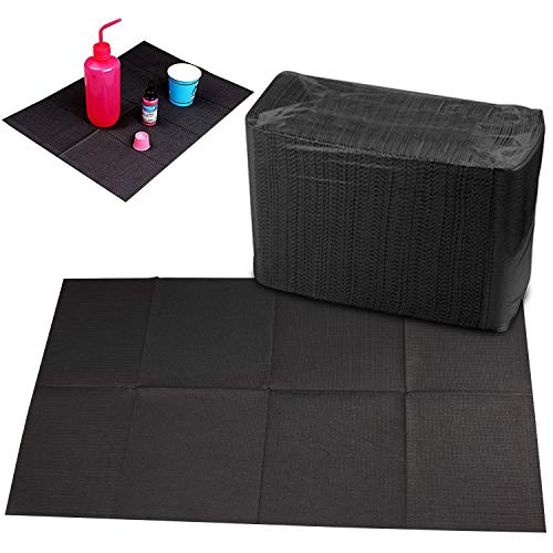 Disposable Dental Bibs Sheets Cloths, Tattoo Table Covers Clean Pad,Underpad Hygiene Personal Tattoo Bib Waterproof Tattoo TableCloth Tattoo Supply Sheet, 125pcs13' X 17' (Black) (125 Pcs)