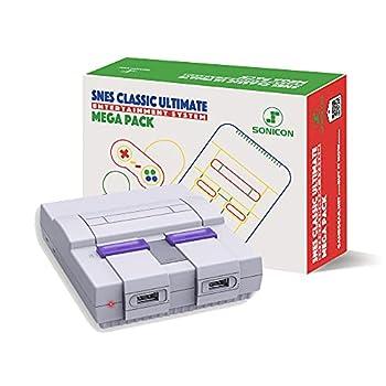Sonicon Preloaded SNES Classic Edition Mini Retro Console Compatible with Nintendo NES Super Nintendo Sega Genesis Emulator Full Collection of NES & SNES Games HDMI 1080P  SNES 6000 Games