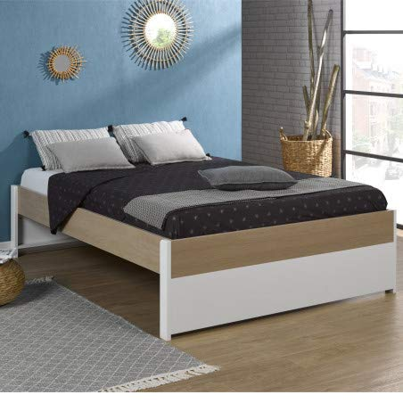 Alfred & Compagnie Noémi bed zonder lattenbodem, 140 x 200 cm, wit