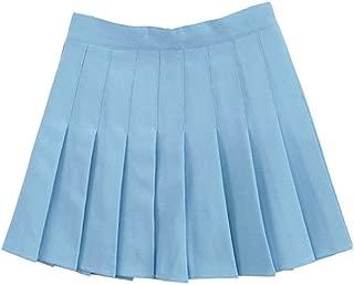 Women School Uniforms Plaid Pleated Costume Mini Skirt