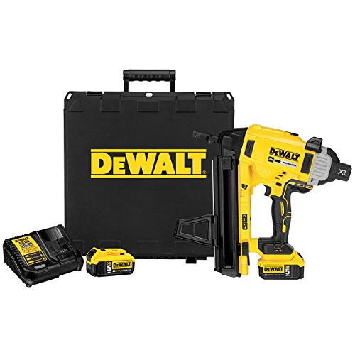 DeWalt DCN890P2 20V MAX XR Cordless Concrete Electric Nailer Kit with Kit Box
