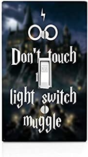 Funny Don't Touch My Light Switch Quote Single Light Switch Plate Cover (Not Decal)