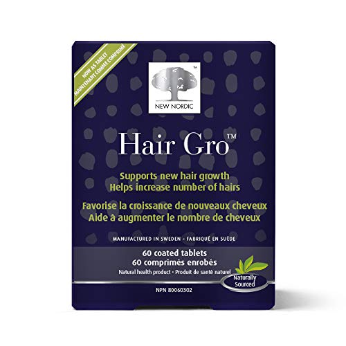 New Nordic Hair Gro, 60 tablets Hair Growth Clinically Proven  Supplement,  Tocotrienols and Naturally Sourced Patented Ingredients