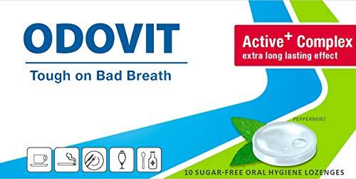 Mundgeruch – dagegen hilft ODOVIT : 5x Mundpflege-Bonbons 10er – Stark gegen Mundgeruch – mild im Geschmack – für nachhaltig frischen Atem - 7