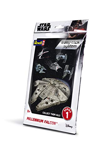 Revell- Millennium Falcon Easy Click Pocket Kit Modelo Simple para enchufar, Color Blanco, 1: 241 (1100)