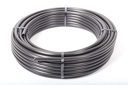 PE-LD Verlegerohr PN6 16mm, Rolle 100lfm Wasserleitung Bewässerung Versorgungsleitung Brauchwasser Druckrohr schwarz