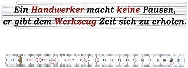ZOLLSTOCK Spruch Meterma/ß HOLZWURM Geschenk Schreiner Lehrling Geselle Meister