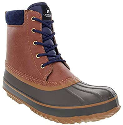LONDON FOG Mens Ashford Waterproof and Insulated Duck Boot Cognac 8 M US