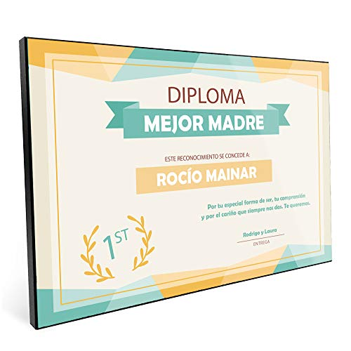 Lolapix Diploma Personalizado Profesor y Profesora con el Nombre del Maestro o Maestra y Sus Alumnos 20x30cm   En Placa de Madera 20x30   Regalo Original Fin de Curso   Varios diseños   Colores