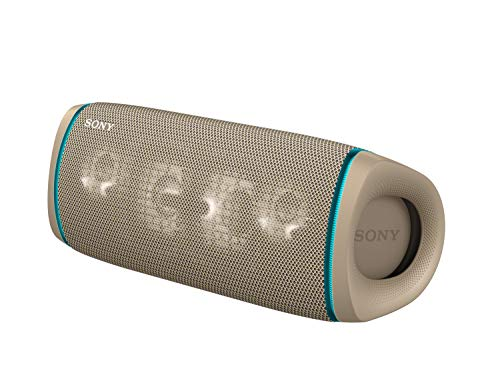 Sony SRS-XB43 EXTRA BASS Wireless Portable Speaker IP67 Waterproof BLUETOOTH 24 Hour Battery and Built In Mic for Phone Calls, Taupe