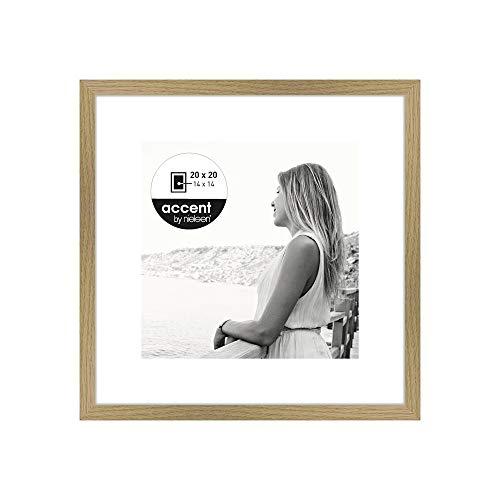 Nielsen Design Bilderrahmen aus Holz, Farbe Eiche, 20 x 20 cm
