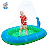 WOGOON Inflatable Sprinkler Pool Water Toys for Kids, 3-in-1 Upgraded Wading Splash Pool, Summer Innovative Kiddle Pool Outdoor Backyard Fountain Swimming Gifts for Babies Boys Girls Dogs(Medium)
