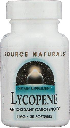 Source Naturals Lycopene 5 mg Antioxidant Carotenoid - 30 Softgels