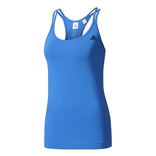 adidas Damen Basic Strappy Tanktop, Blue, M
