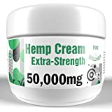 50,000mg Hemp Cream - Fast, Effective Natural Arthritis, Muscle, and Nerve Pain Relief Cream with Hemp Oil, Menthol Crystals, and Essential Oil