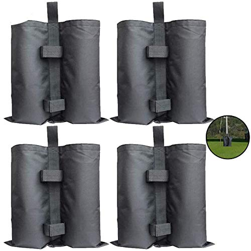 ZhaoLiang 4 Pack Gazebo Sand Weights Industrial Grade Heavy Duty Double-Stitched Sand Weight Bags, Leg Weights for Pop up Canopy Tent Sun Shades, Umbrella, Trampolines Weighted Feet Bag